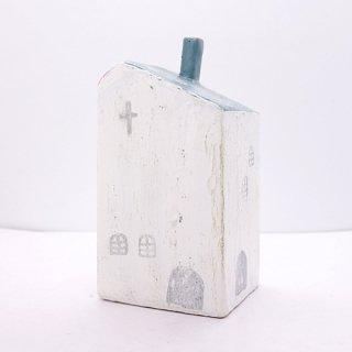 『ツメサキの世界』 白い漆喰の壁の家(大)J
