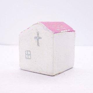 『ツメサキの世界』 白い漆喰の壁の家(小)B
