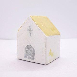 『ツメサキの世界』 白い漆喰の壁の家(小)C