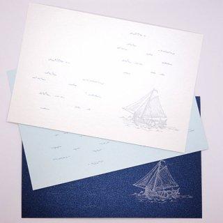 ポストカード 波とヨット(knoten)