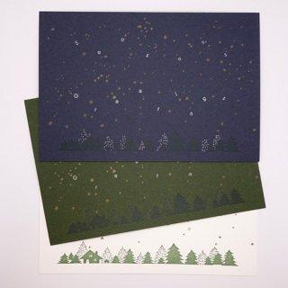 ポストカード  星と森と家(knoten)