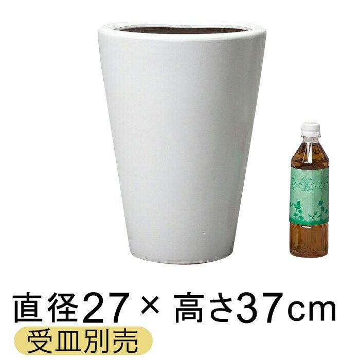 ツルツルM丸深型白色陶器鉢 S 〔受皿別売/つや無〕