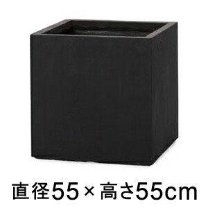 【送料無料】【プロフェッショナル】ベータ キューブプランター ブラック 55cm