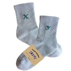 laugh socks(gray×green)