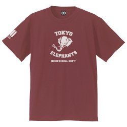 <img class='new_mark_img1' src='//img.shop-pro.jp/img/new/icons13.gif' style='border:none;display:inline;margin:0px;padding:0px;width:auto;' />TOKYO ELEPHANTS Tシャツ - 30th ver. -(ヴィンテージレッド)