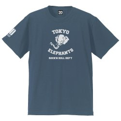 <img class='new_mark_img1' src='//img.shop-pro.jp/img/new/icons13.gif' style='border:none;display:inline;margin:0px;padding:0px;width:auto;' />TOKYO ELEPHANTS Tシャツ - 30th ver. -(ヴィンテージブルー)