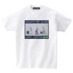 SHISHAMO×Candy Stripper コラボTシャツ(白)