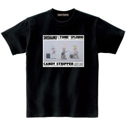 SHISHAMO×Candy Stripper コラボTシャツ(黒)