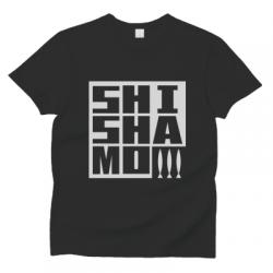 SHISHAMOロゴTシャツ(黒×白)