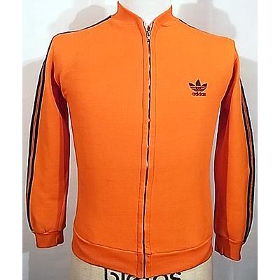 '70s【アディダス(adidas)】デッドストック オレンジ×紺 ジャージセットアップ [sjs16_2102]