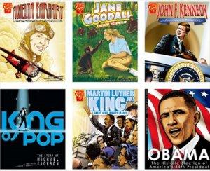 Graphic Biographies(6冊セット)−グラフィックノベル 英語多読
