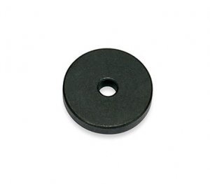 フェライト磁石 丸  穴あき(φ0.25cm)