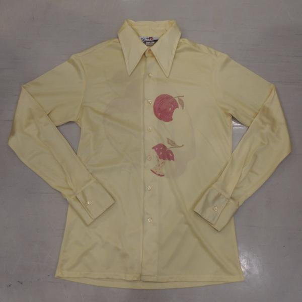 ビンテージ ポリシャツ リンゴ