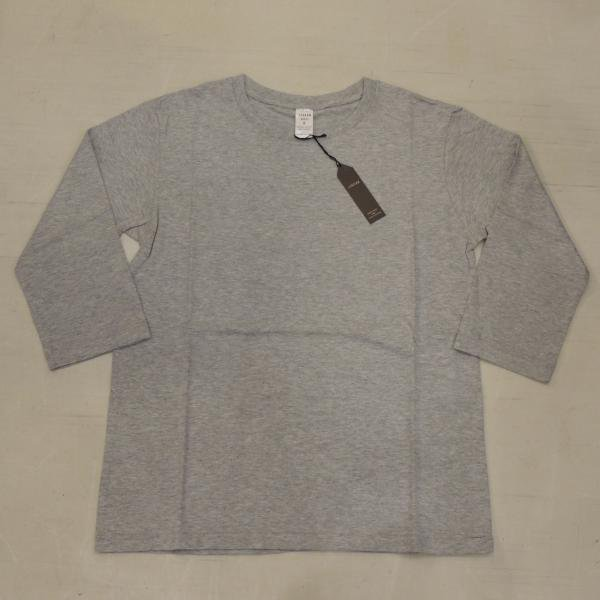 JIGSAW SUPIMA COTTON  7分袖 TOP GRAY