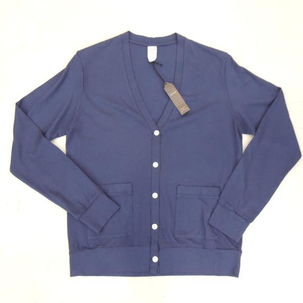 <img class='new_mark_img1' src='//img.shop-pro.jp/img/new/icons30.gif' style='border:none;display:inline;margin:0px;padding:0px;width:auto;' />JIGSAW SUPIMA COTTON CARDIGAN NAVY