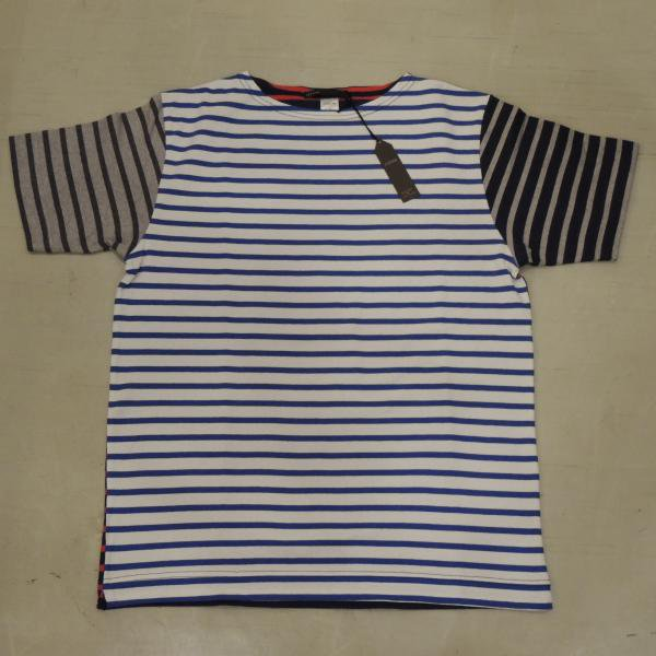 <img class='new_mark_img1' src='https://img.shop-pro.jp/img/new/icons41.gif' style='border:none;display:inline;margin:0px;padding:0px;width:auto;' />JIGSAW CRAZY PATTERN BOATNECK  T−SHIRTS