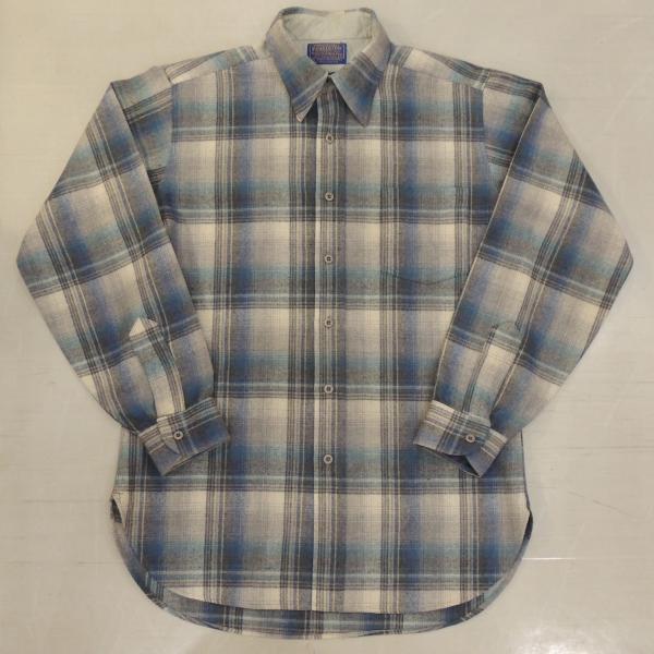 <img class='new_mark_img1' src='https://img.shop-pro.jp/img/new/icons12.gif' style='border:none;display:inline;margin:0px;padding:0px;width:auto;' />ビンテージ ペンドルトン ウールシャツ M 青系