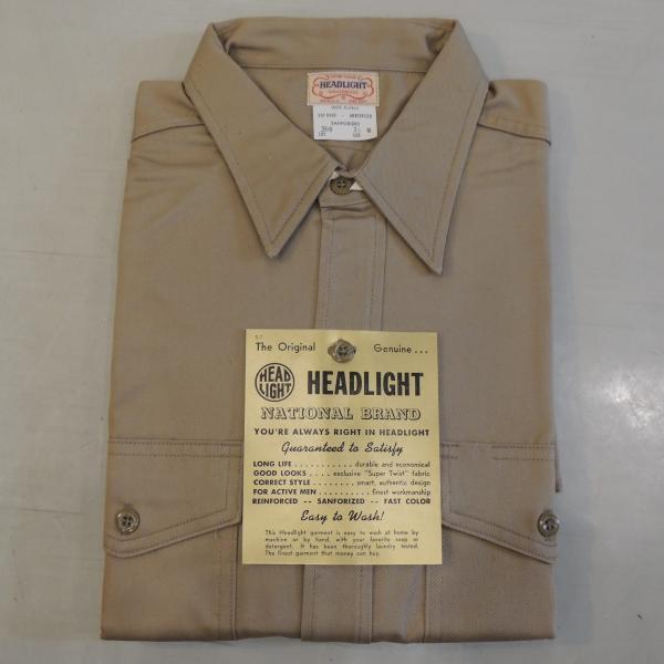 デッドストック ヘッドライト ワークシャツ