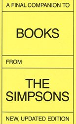 <B>A Final Companion To Books From The Simpsons (New Price/stained Spine)</B>