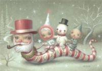 Mark Ryden Holiday Cards: Santa Snake (Set Of 10)