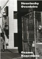 金村修(Osamu Kanemura): Stravinsky Overdrive (SIGNED)