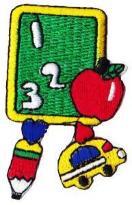 """アイロンワッペン """"SCHOOL"""" M-14"""