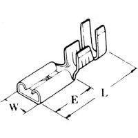 圧着端子  110型 平 メス 差込 2.8 外3.7mm用  1個