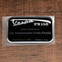 """Unita'd'Italia デカール 小 """"PX150 e3"""" ツールbox用純正"""