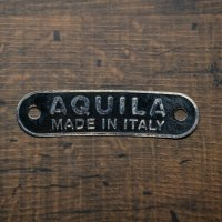 "シートバッチ"" AQUILA MADE IN ITALY""黒"