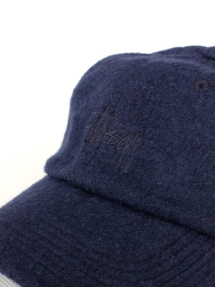 Boiled Wool Stock Logo Cap #Navy
