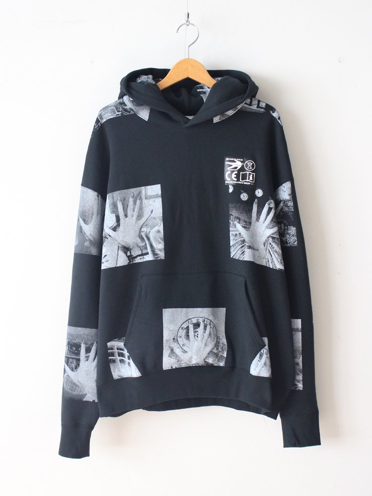 C.E | シーイー BLOCK PRINT HEAVY HOODY #BLACK