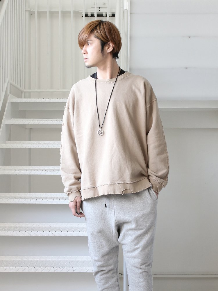 MAGIC STICK | マジックスティック DESTROY CREW SWEAT #BEIGE