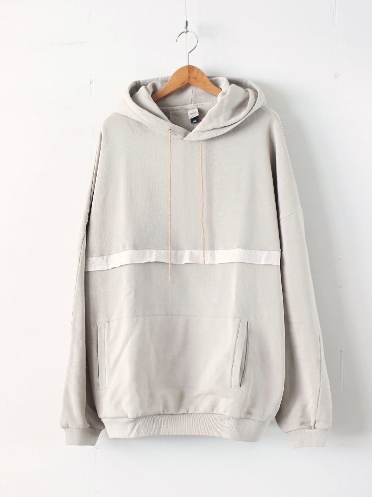 MAGIC STICK | マジックスティック SUPER LOOSE FIT HOODIE #FADE LIGHT GREGE