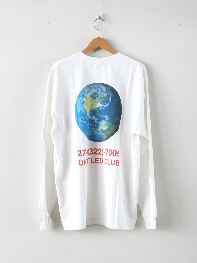 UNTITLED CLUB | アンタイトルクラブ EARTH L/S TEE #WHITE