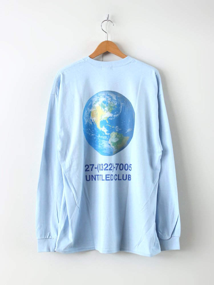 UNTITLED CLUB | アンタイトルクラブ EARTH L/S TEE #L.BLUE