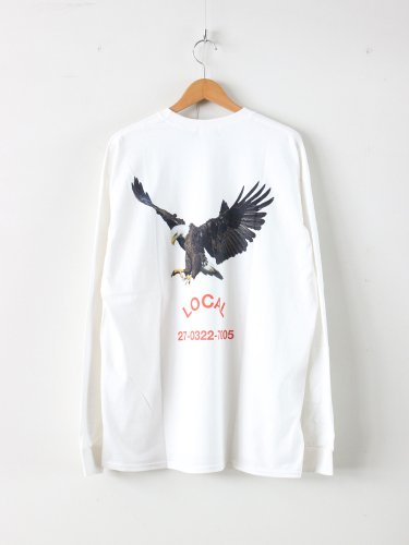 LOCAL L/S TEE #WHITE