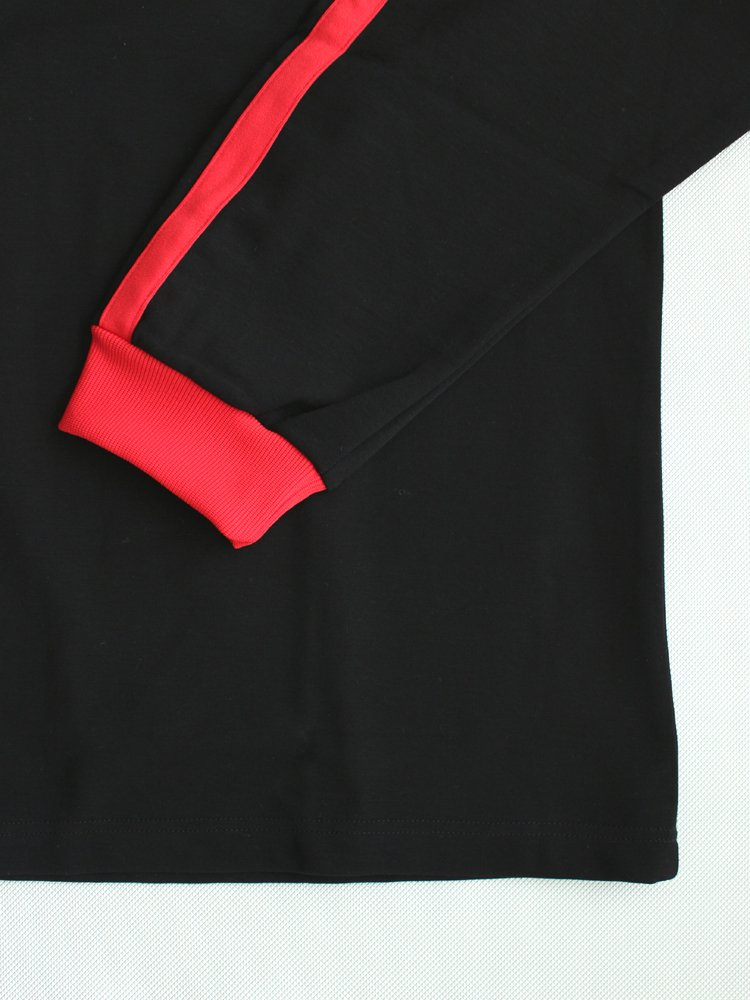 LEEROY L/S TEE #BLACK/RED