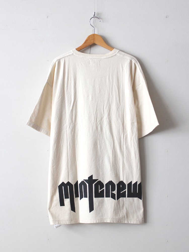 mint crew ミントクルー inside out rock tee off white