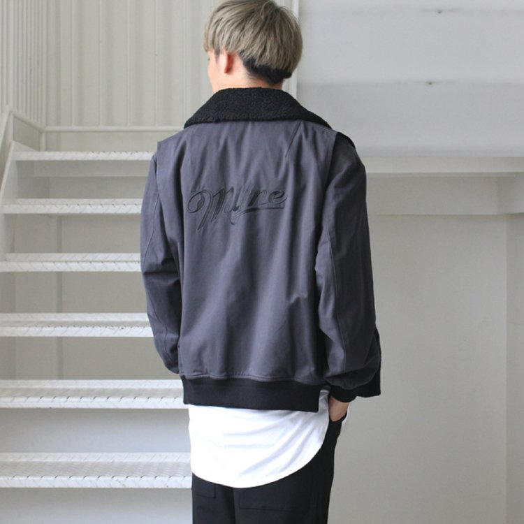 MYne | マイン 3way flight jacket #GRAY