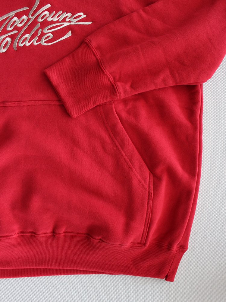 MYne | マイン embroidery turtle hooded big pullover #RED