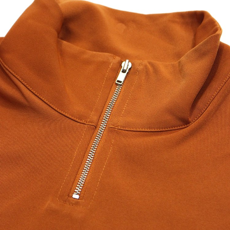 HIGH NECK ZIPPED TOP  #ORANGE
