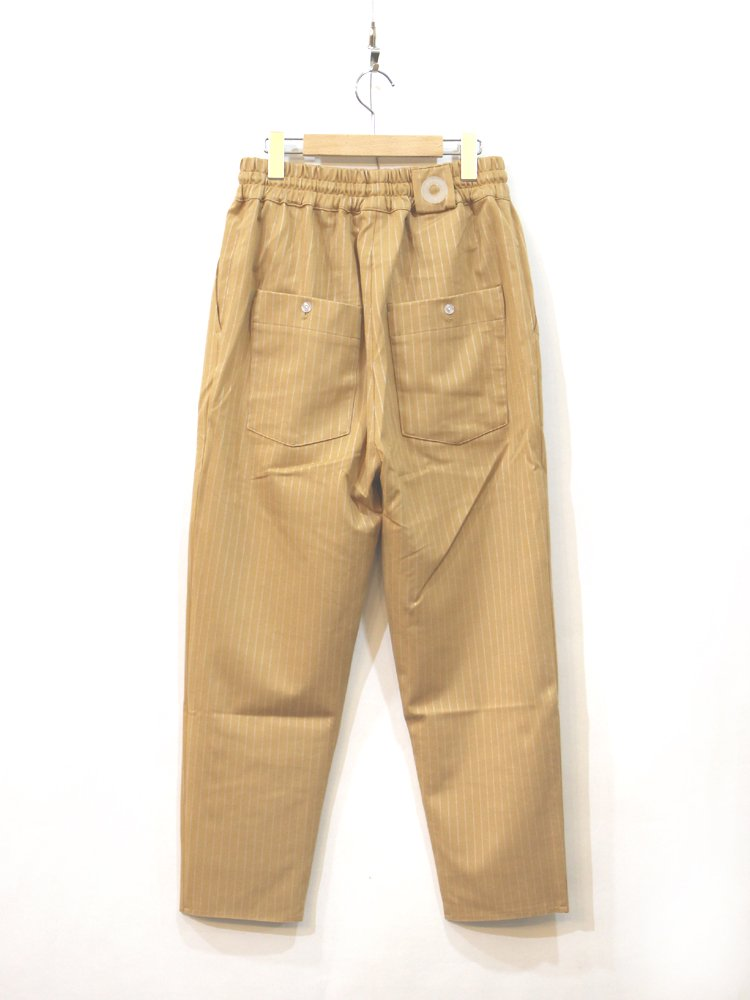 DROLE DE MONSIEUR | ドロールドムッシュ TAPPERED STRIPY PANTS  #BEIGE