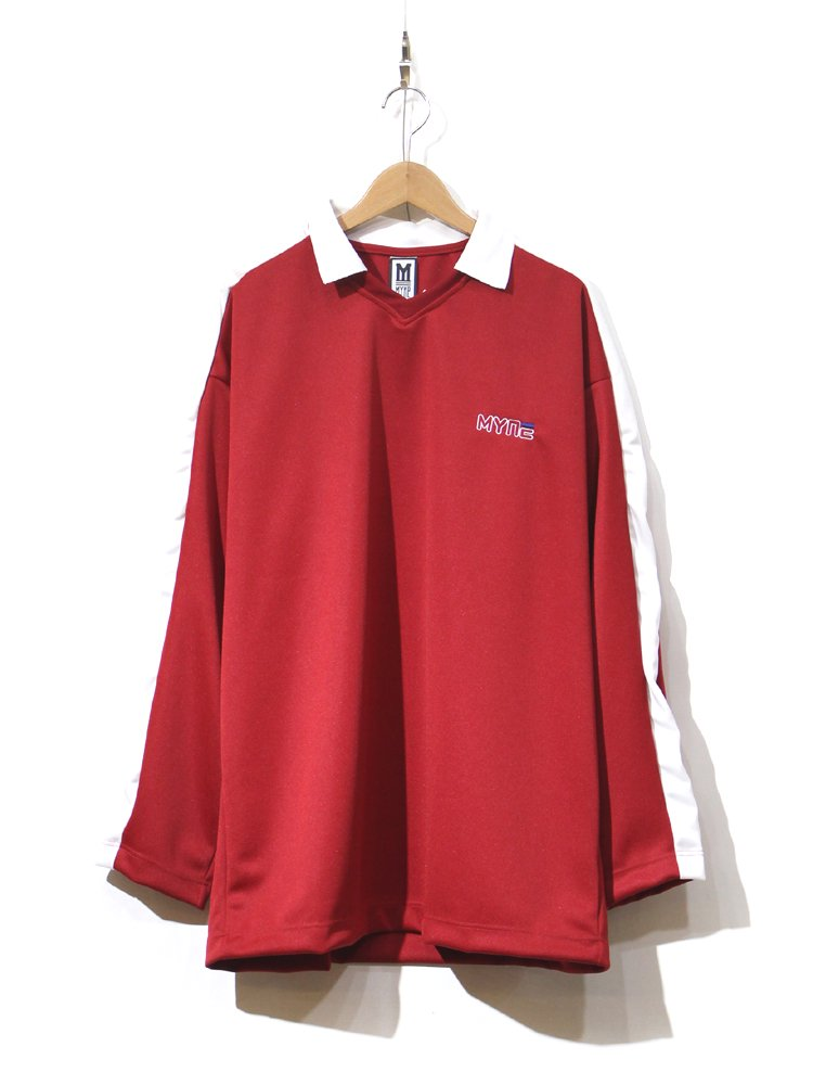 MYne | マイン collared pullover #RED