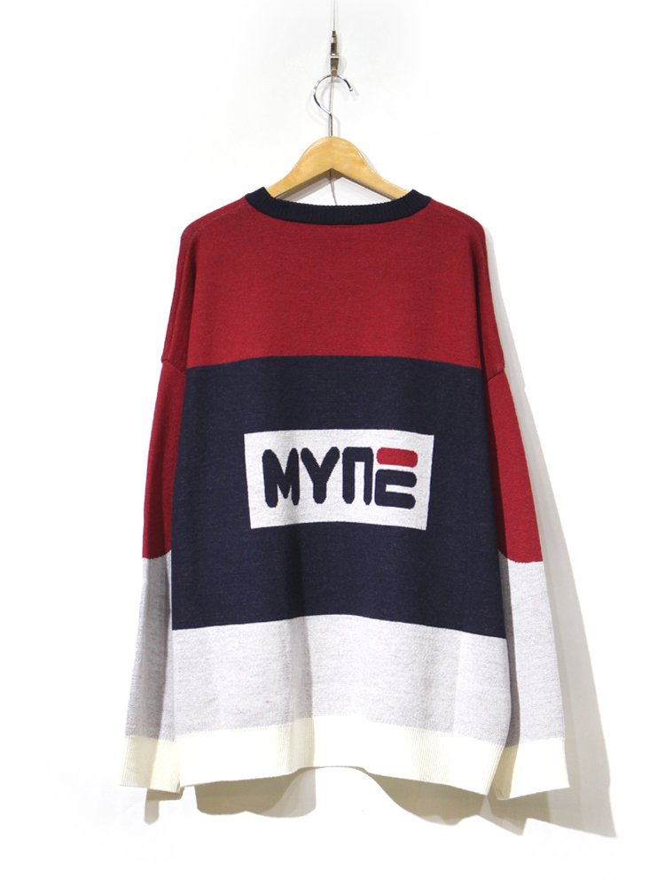 knit pullover #RED
