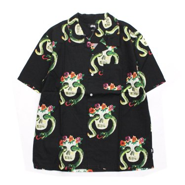 Skull Pattern Shirt #BLACK