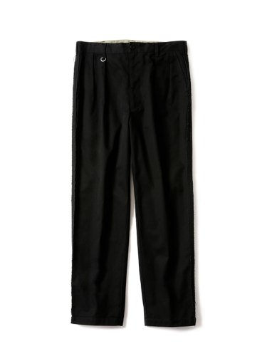 RAW EDGED WIDE CHINO #BLACK