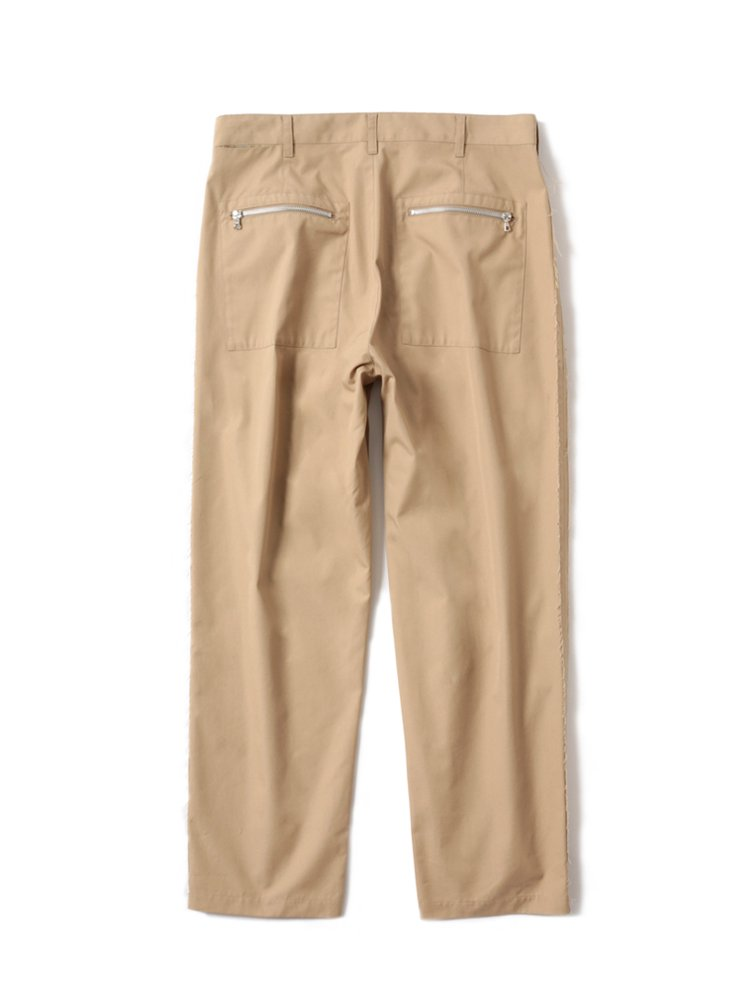 MAGIC STICK | マジックスティック RAW EDGED WIDE CHINO #BEIGE