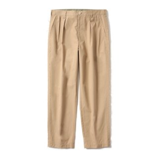 RAW EDGED WIDE CHINO #BEIGE