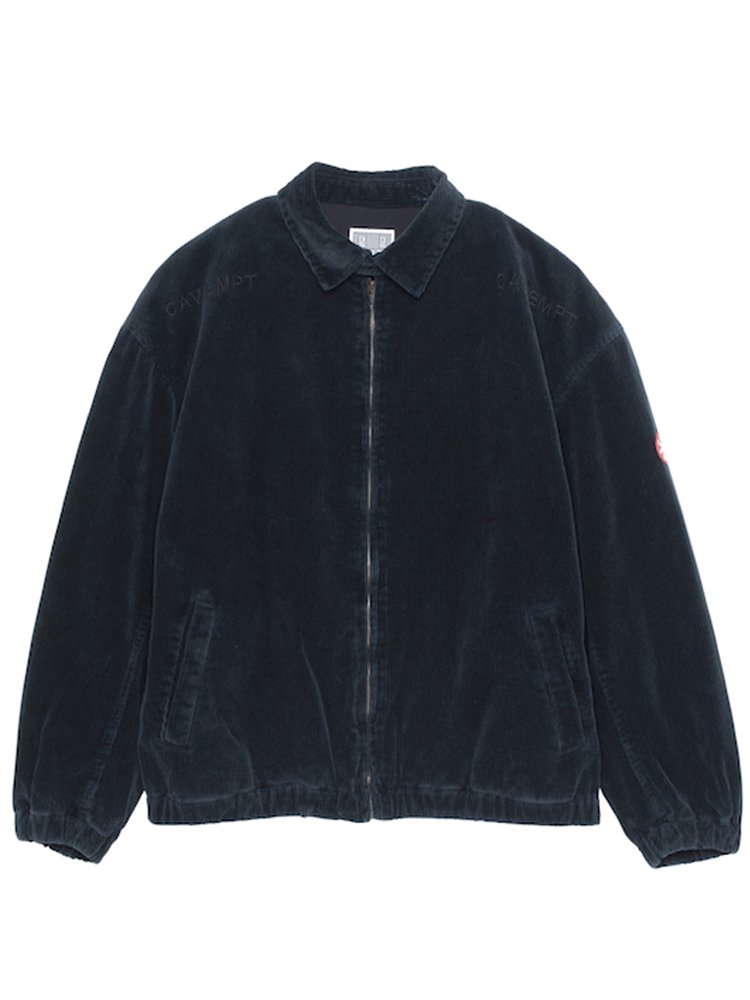 CORDUROY ZIP JACKET #NAVY