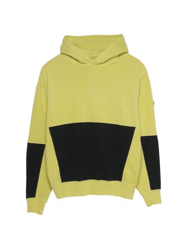 OVERDYE ZIGGURAT PATCH HEAVY HOODY #YELLOW